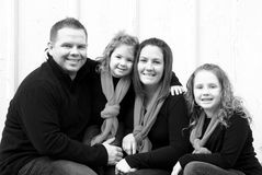 Happy Family at Christmas. Happy Family Smiling at Christmas Time Royalty Free Stock Photo