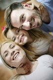 Happy family. Close up. Looking at camera. royalty free stock photos