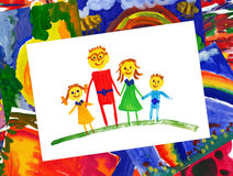 Happy family with collage Stock Images