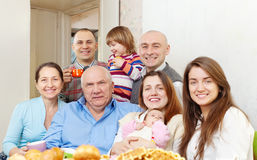Happy family communicate Stock Images