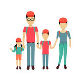 Happy Family Concept Banner Design Royalty Free Stock Image