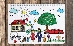 Happy family concept. vector illustration
