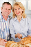 Happy Family is cooking Stock Photography