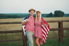Happy family in country style Stock Image