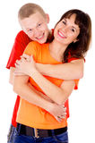 A happy family, a couple hugging Royalty Free Stock Images