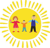 Happy family: daddy,mum and son Royalty Free Stock Photo