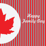 Happy Family Day - Canada Stock Photo