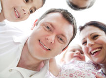 Happy family from down view Stock Photography