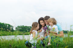 Family outdoors Royalty Free Stock Photos