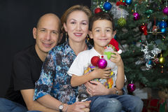 Happy Family enjoying at home at Christmas Stock Photography