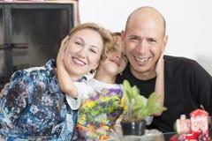 Happy Family enjoying at home royalty free stock image
