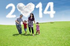 Happy family enjoying new year day Stock Photos