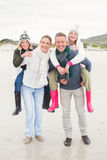 Happy family enjoying a nice day out Royalty Free Stock Images