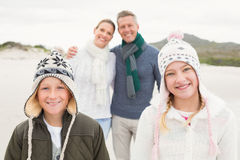 Happy family enjoying a nice day out Stock Photo