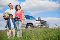 Free Happy Family Enjoying Road Trip And Summer Vacation Stock Image - 76024951