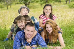 Happy Family enjoying a sunny summer day Royalty Free Stock Photography
