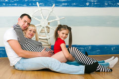 Happy family expecting the second child Royalty Free Stock Photo