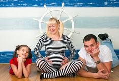 Happy family expecting the second child Royalty Free Stock Images