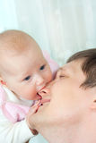 Happy family - father and baby Royalty Free Stock Photo