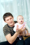 Happy family - father and baby Stock Image