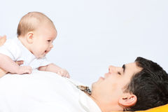 Happy family - father and baby Royalty Free Stock Images