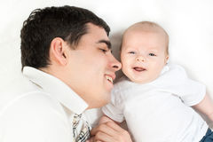 Happy family - father and baby Stock Photography