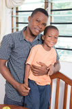 Happy family. Happy father with his son take a picture together Stock Photo