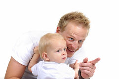 Happy family. Father and little boy Royalty Free Stock Photo