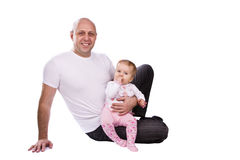 Happy family -  father and little daughter. Royalty Free Stock Image