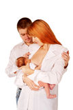 Happy family, father mother and baby Royalty Free Stock Images