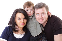 Happy family. Father, mother and boy Royalty Free Stock Images