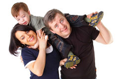 Happy family. Father, mother and child Stock Photos
