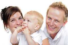 Happy family. Father,mother  and little boy Stock Image