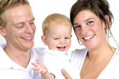 Happy family. Father,mother  and little boy Royalty Free Stock Photography