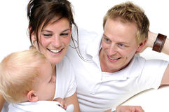 Happy family. Father,mother  and little boy Stock Images