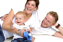 Happy family. Father,mother  and little boy Stock Photo