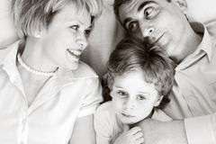 Happy family - father, mother and son Royalty Free Stock Images