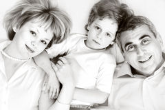 Happy family - father, mother and son Royalty Free Stock Photography