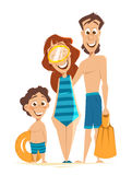 Happy family father mother son have fun on summer vacation. Happy family father mother and son have fun on summer vacation Royalty Free Stock Image