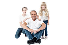 We are the happy family Royalty Free Stock Photos