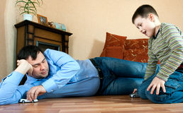 Happy family - father and son Stock Photography
