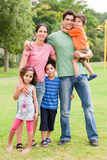 Happy family of five stock image