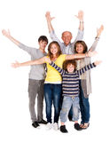 Happy family of five with young kid Royalty Free Stock Photos