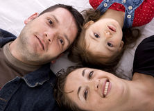 Happy family on the floor Stock Images