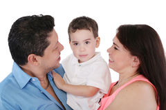 Happy Family, focus in the boy. Stock Image