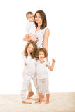 Happy family of four members Royalty Free Stock Photography