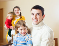 Happy family of four Stock Photography