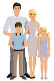 Happy family full length Royalty Free Stock Images