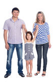 Happy family in a full length Stock Image