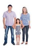 Happy family in a full length Stock Photo